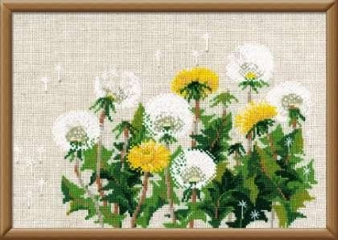 Dandelion cross stitch pattern free (4)