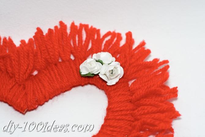 Valentine's Day Yarn Hearts craft (13)