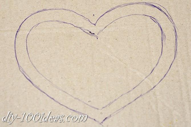 Valentine's Day Yarn Hearts craft (2)
