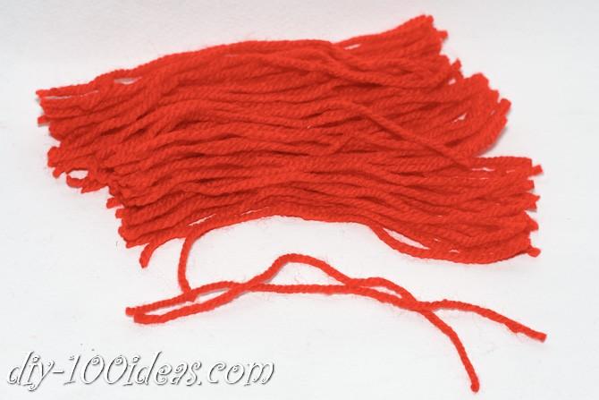Valentine's Day Yarn Hearts craft (4)