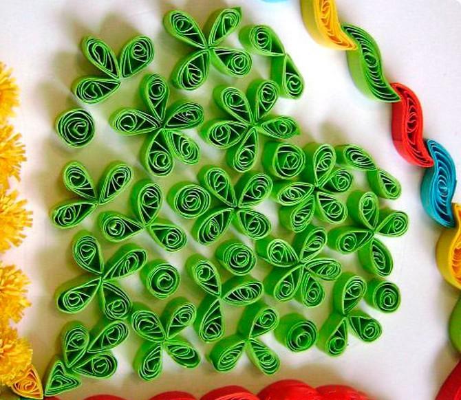 quilled leaf clover (6)