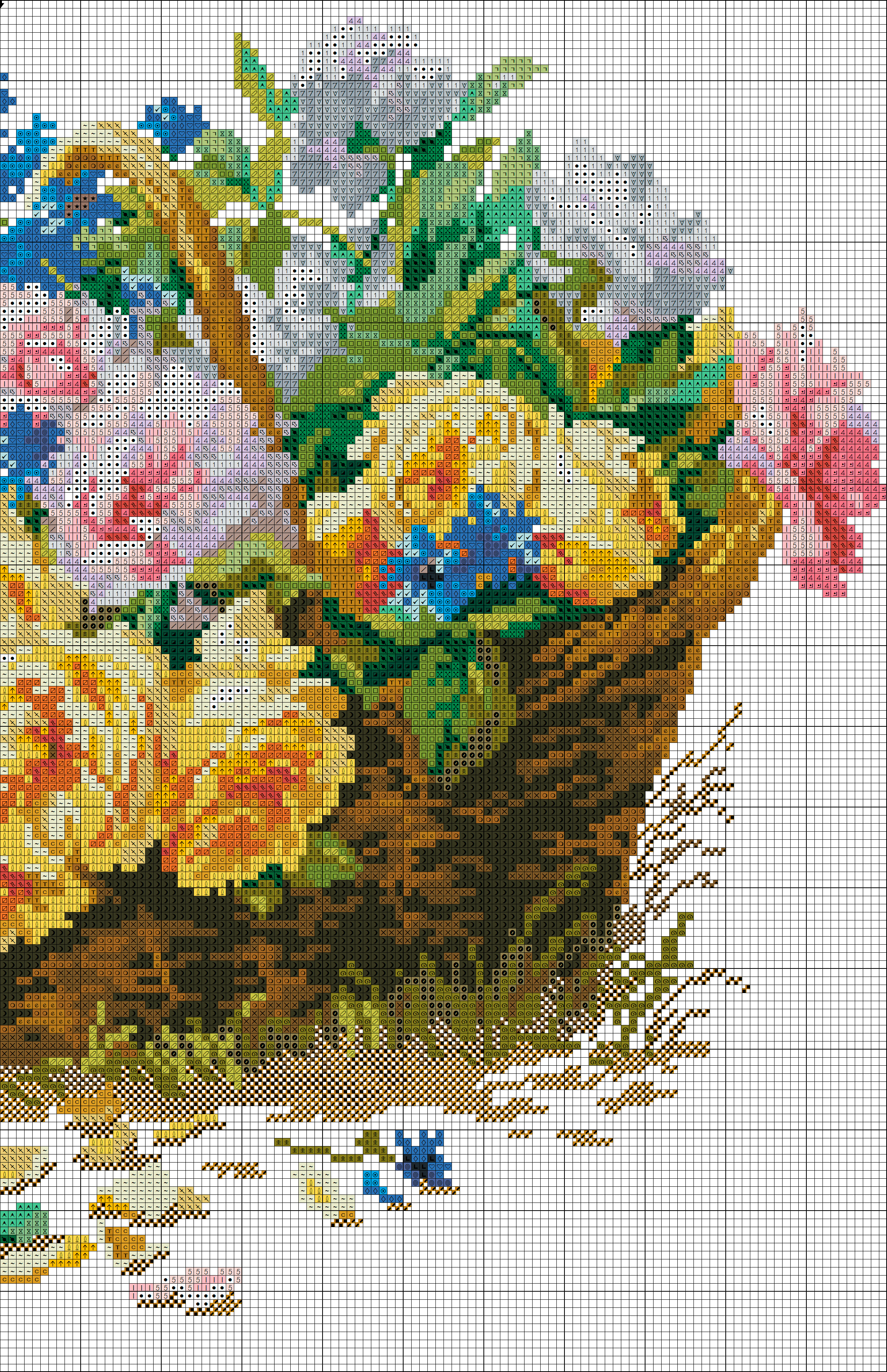 cross stitch pattern roses and cornflowers (2)