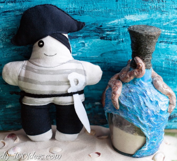 How to sew soft Pirate Doll (8)