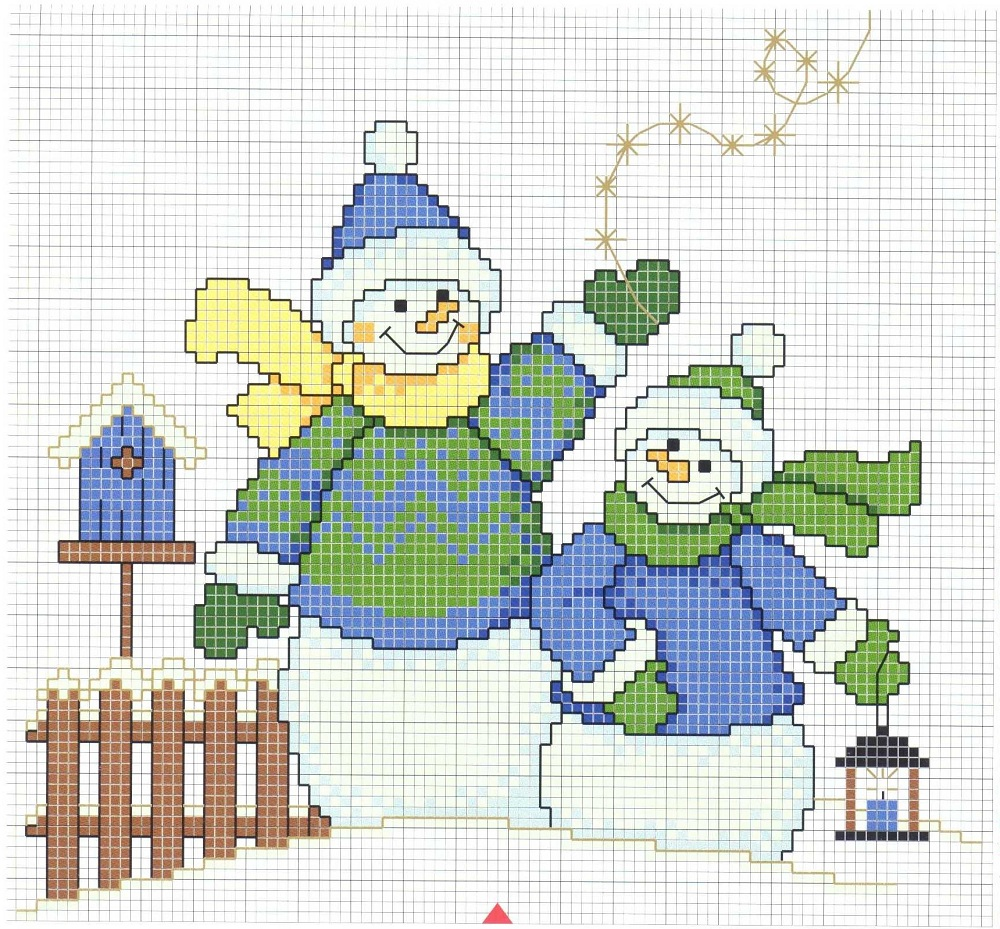 free_cross_stitch_pattern_snowman-12