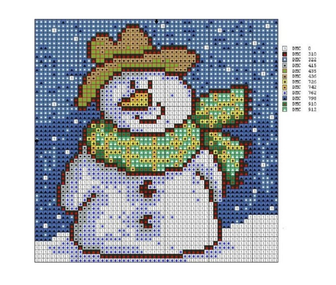 free_cross_stitch_pattern_snowman-5