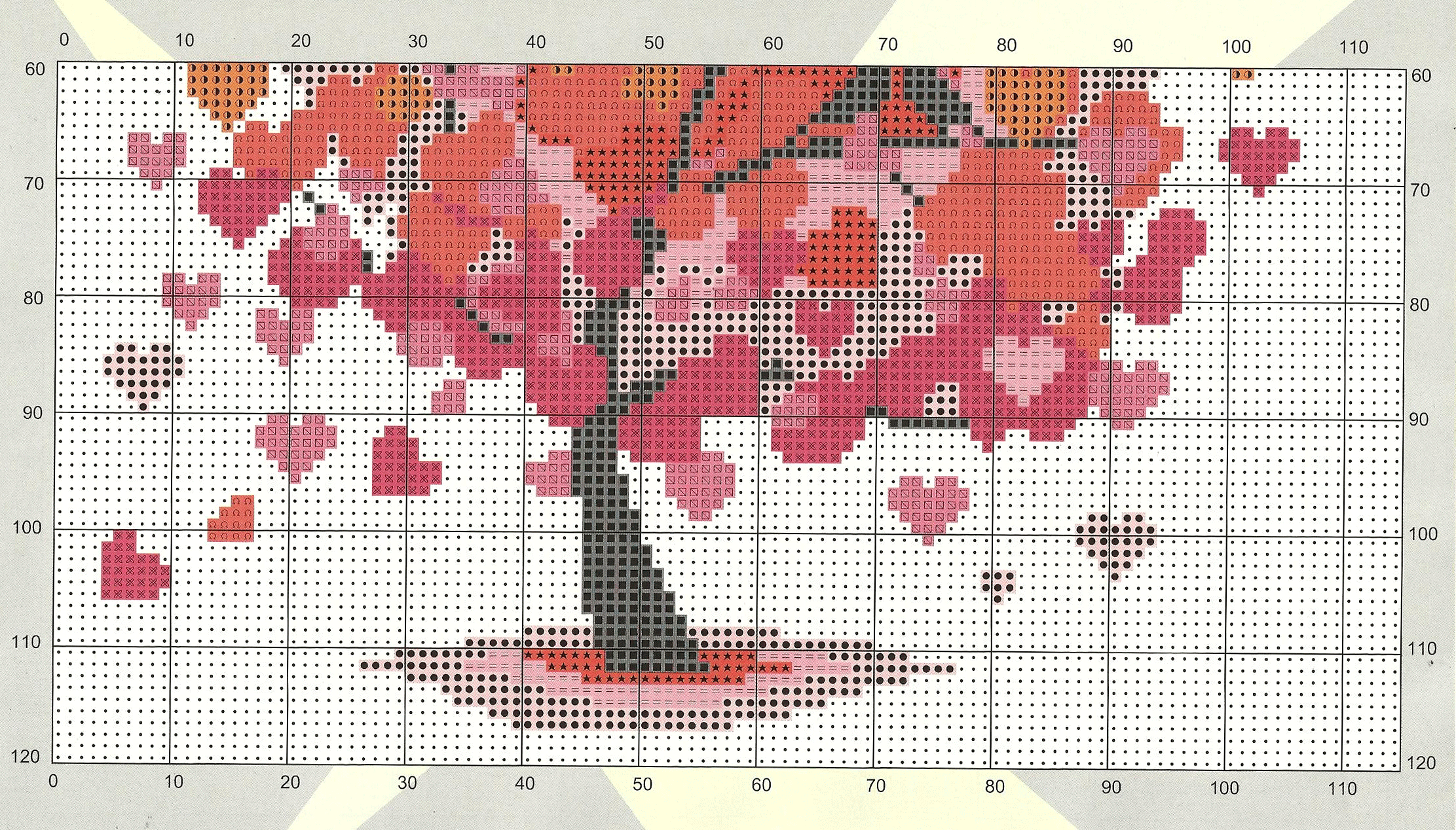 Free Cross Stitch Pattern Heart Tree | DIY 100 Ideas
