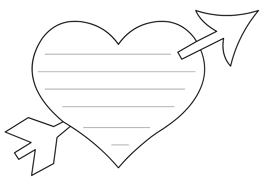 heart shape coloring pages | Free Printable Heart Templates | DIY 100 Ideas