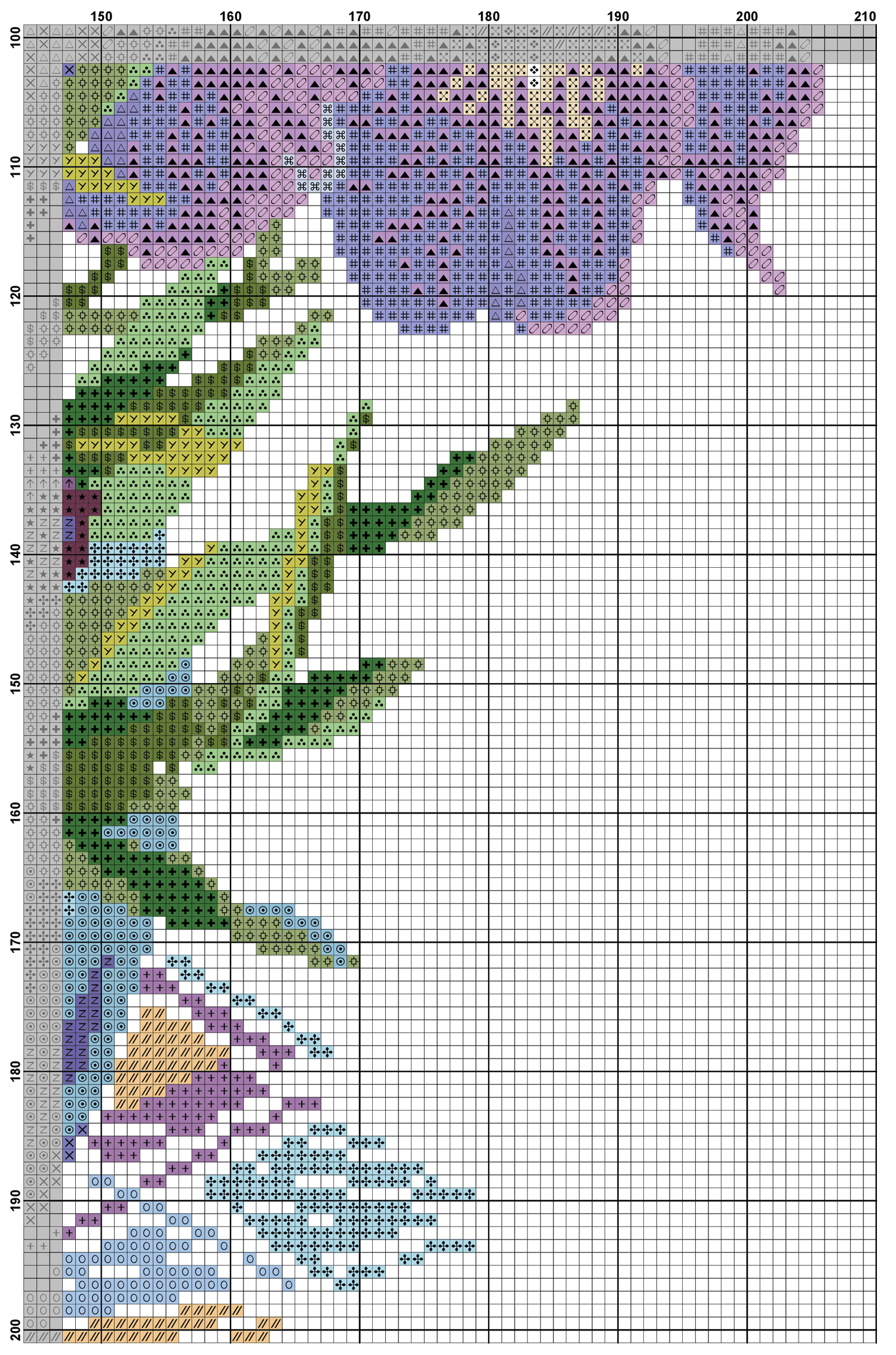 free cross stitch pattern irises diy 100 ideas