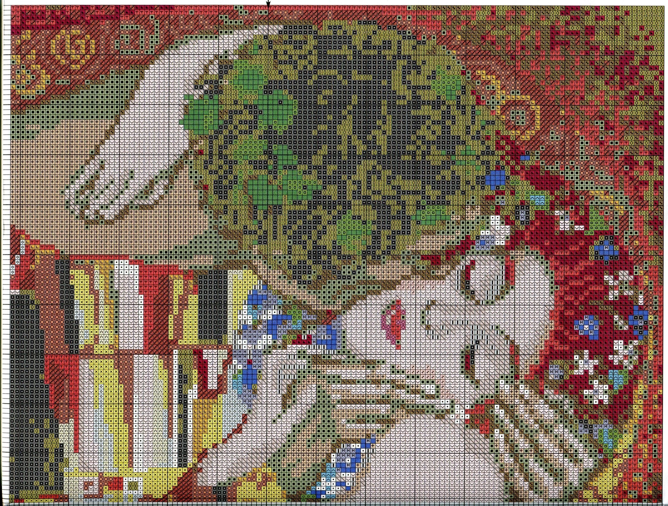 Free cross stitch pattern g klimt quot the kiss diy ideas