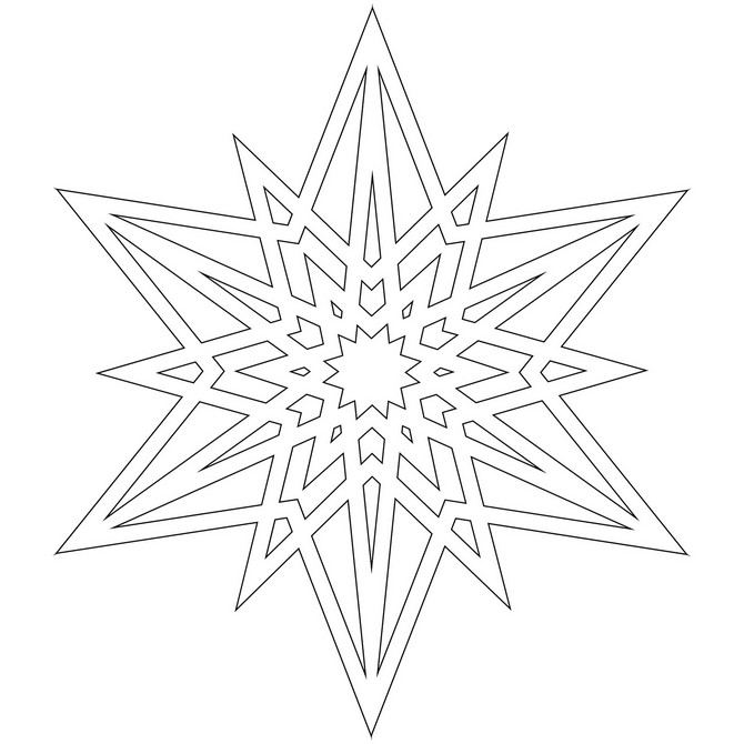 It is a picture of Challenger Snowflakes Print Out