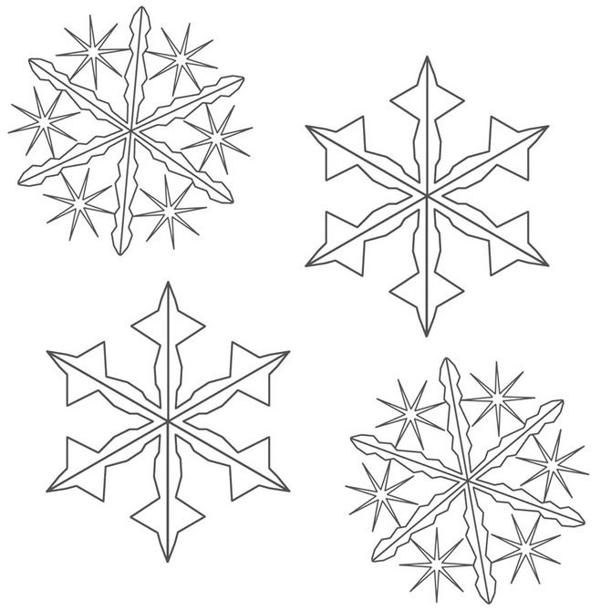 This is a graphic of Monster Snowflakes Patterns Printable