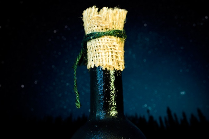 DIY decor wine bottle (2)