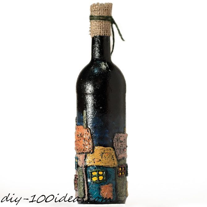 6 wine bottle decoration ideas diy 100 ideas. Black Bedroom Furniture Sets. Home Design Ideas