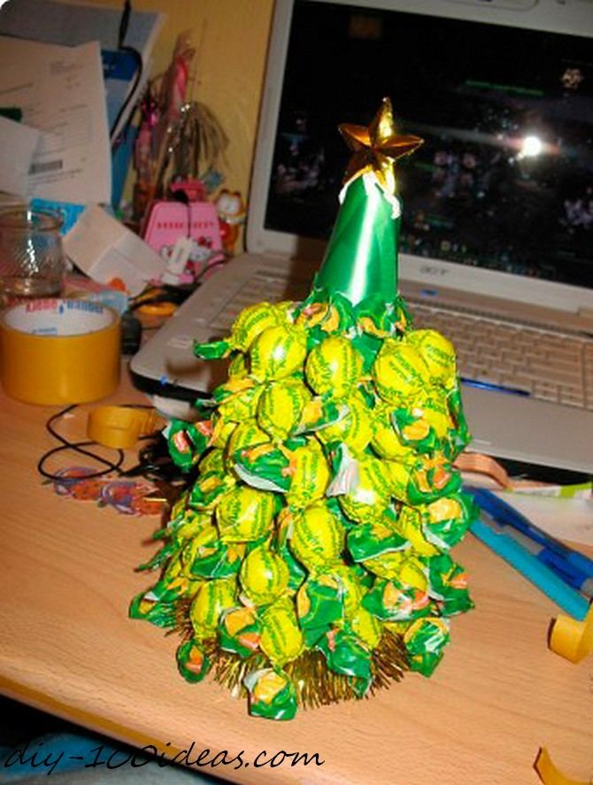 Diy candy christmas tree (8)