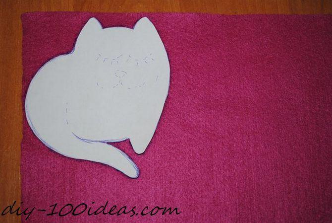 Felt cat ornament (9)