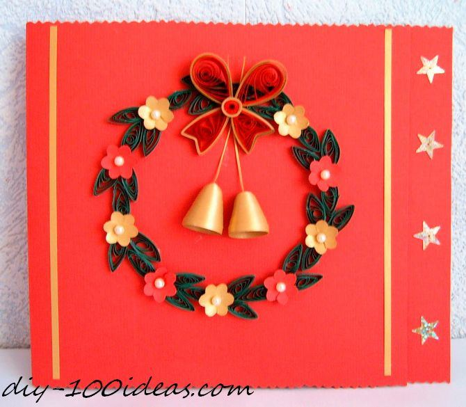 Quilling Christmas Card (1)