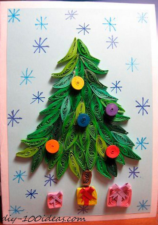 Quilling Christmas Card | DIY 100 Ideas