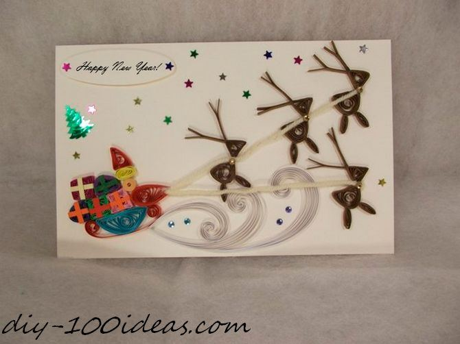 Quilling Christmas Card (14)