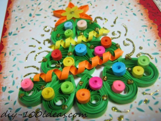 Quilling Christmas Card (2)