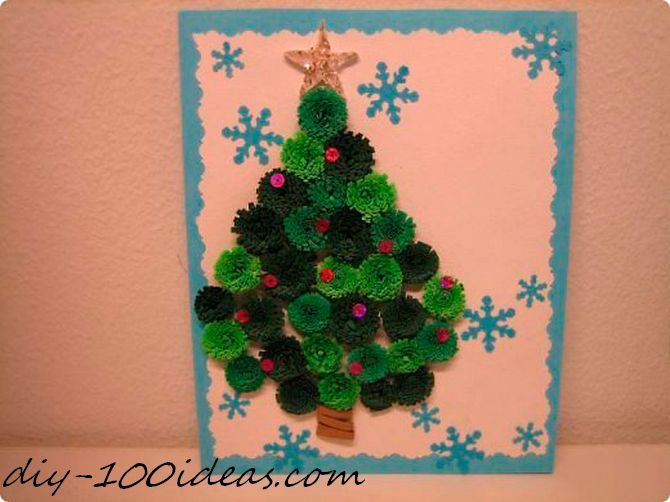 Quilling Christmas Card (3)