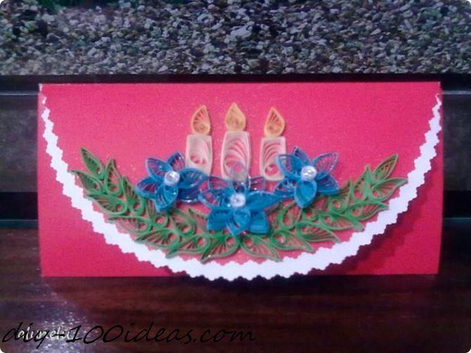 Quilling Christmas Card (5)