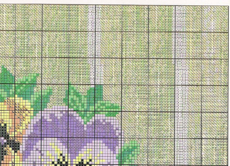 pansy cross stitch pattern free (4)