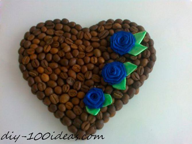 DIY Valentine Coffee Heart Magnet (1)