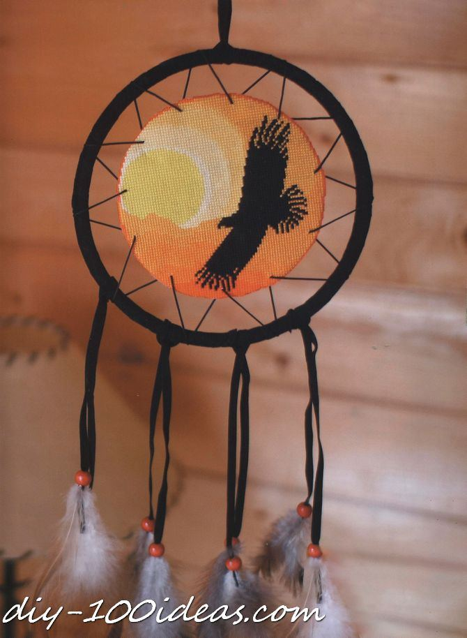 Free cross stitch pattern dreamcatcher diy 100 ideas for How to make dreamcatcher designs
