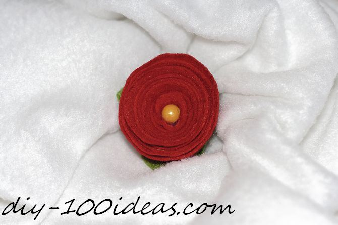 Rolled Felt Flower Rose (1)