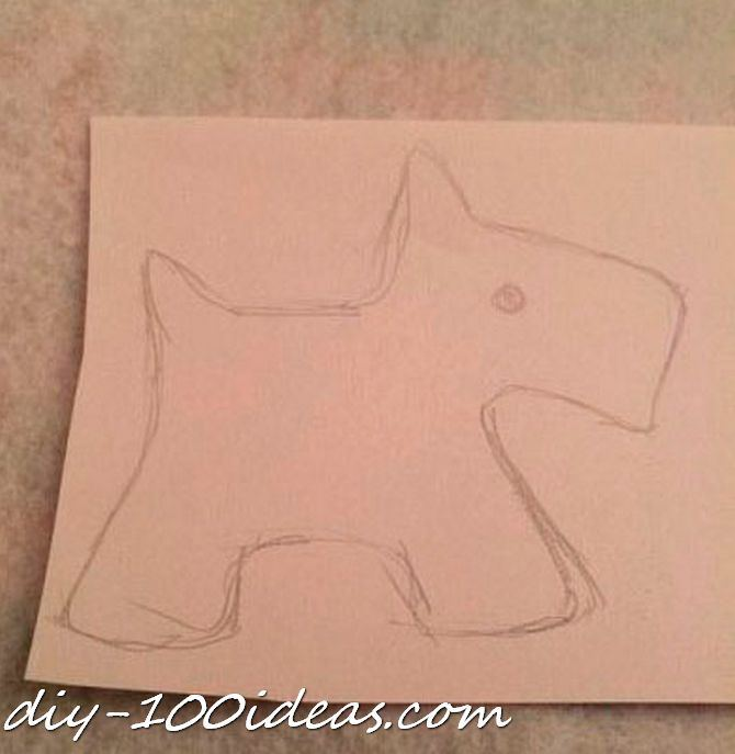 Scottie dog felt brooch (2)