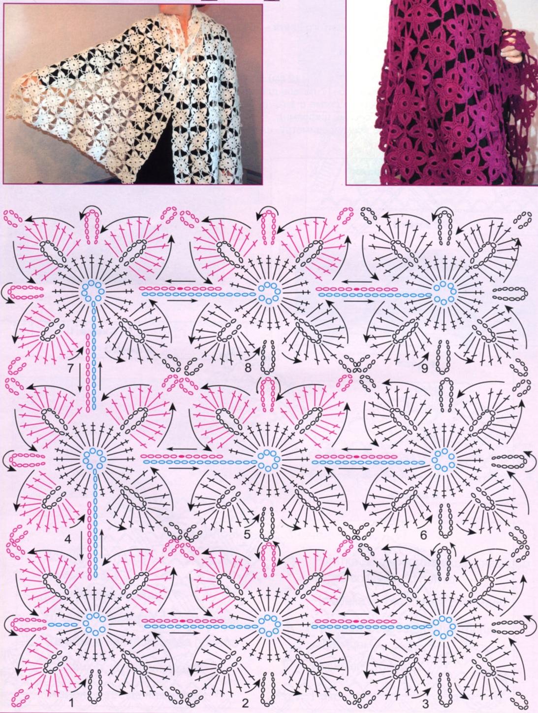 free crochet shawls patterns