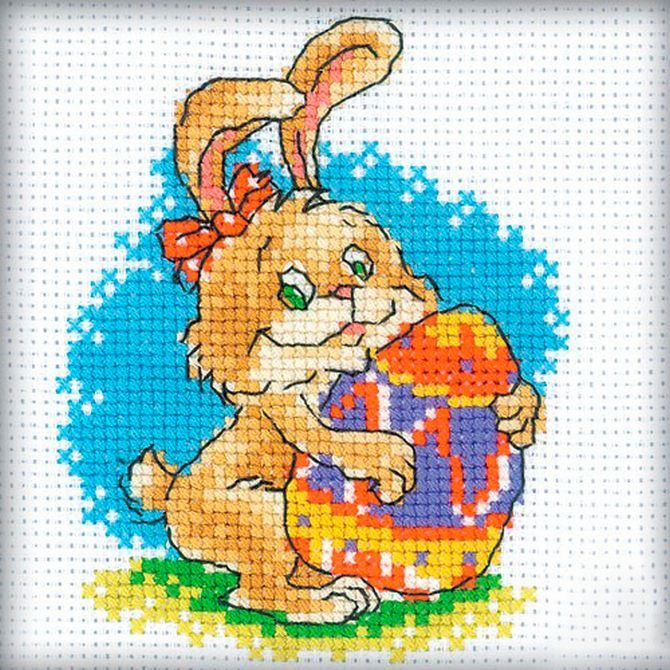 free cross stitch pattern easter bunny (1)