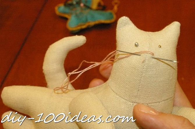 Free sewing pattern Tilda cat (24)