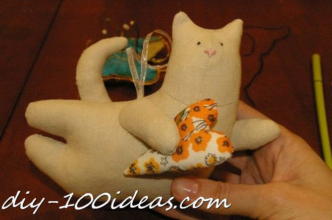 Free sewing pattern Tilda cat (27)