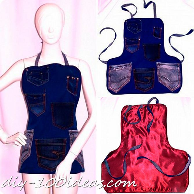 Diy apron from jeans (1)