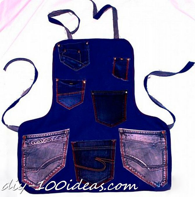 Diy apron from jeans (4)