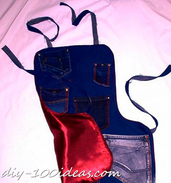 Diy apron from jeans (5)