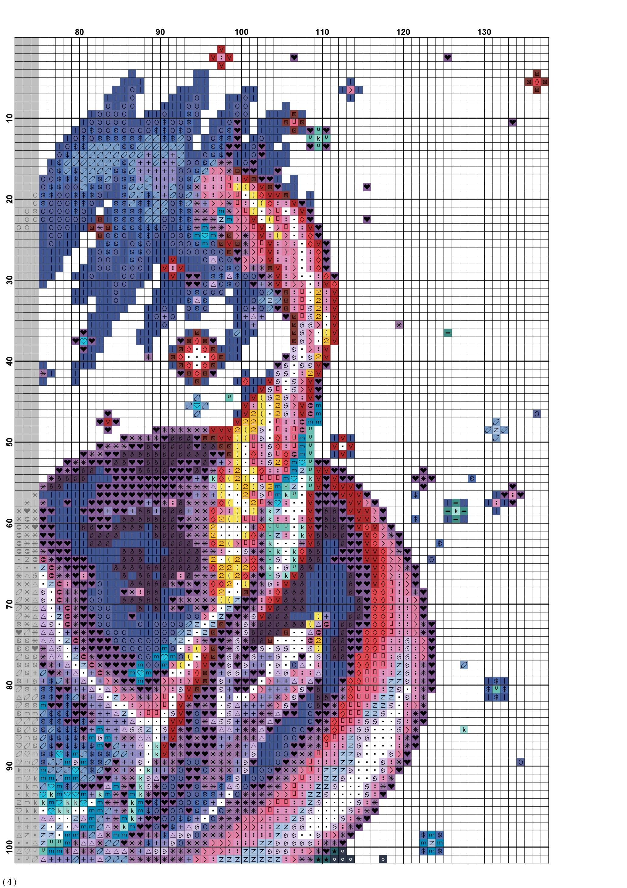 cross stitch pattern phoenix (3)