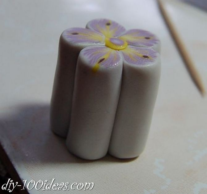 Polymer Clay Flower Petal Cane Tutorial (24)