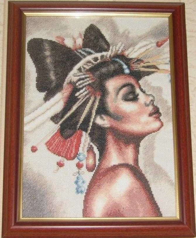 cross stitch african woman (1)