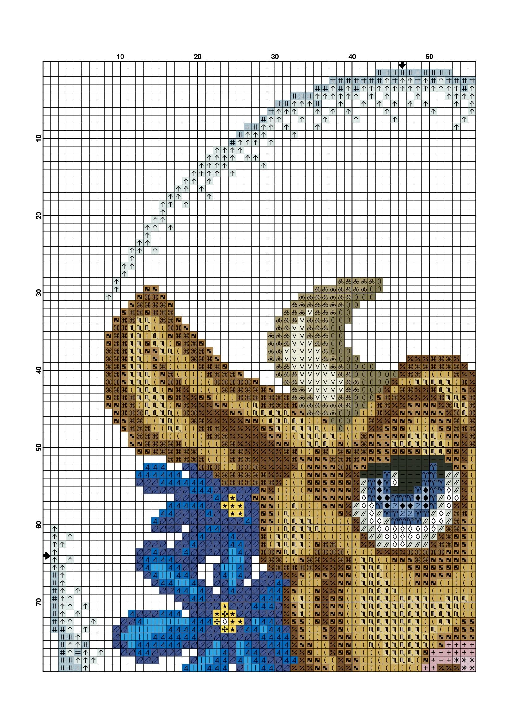 cross stitch cow pattern free (3)
