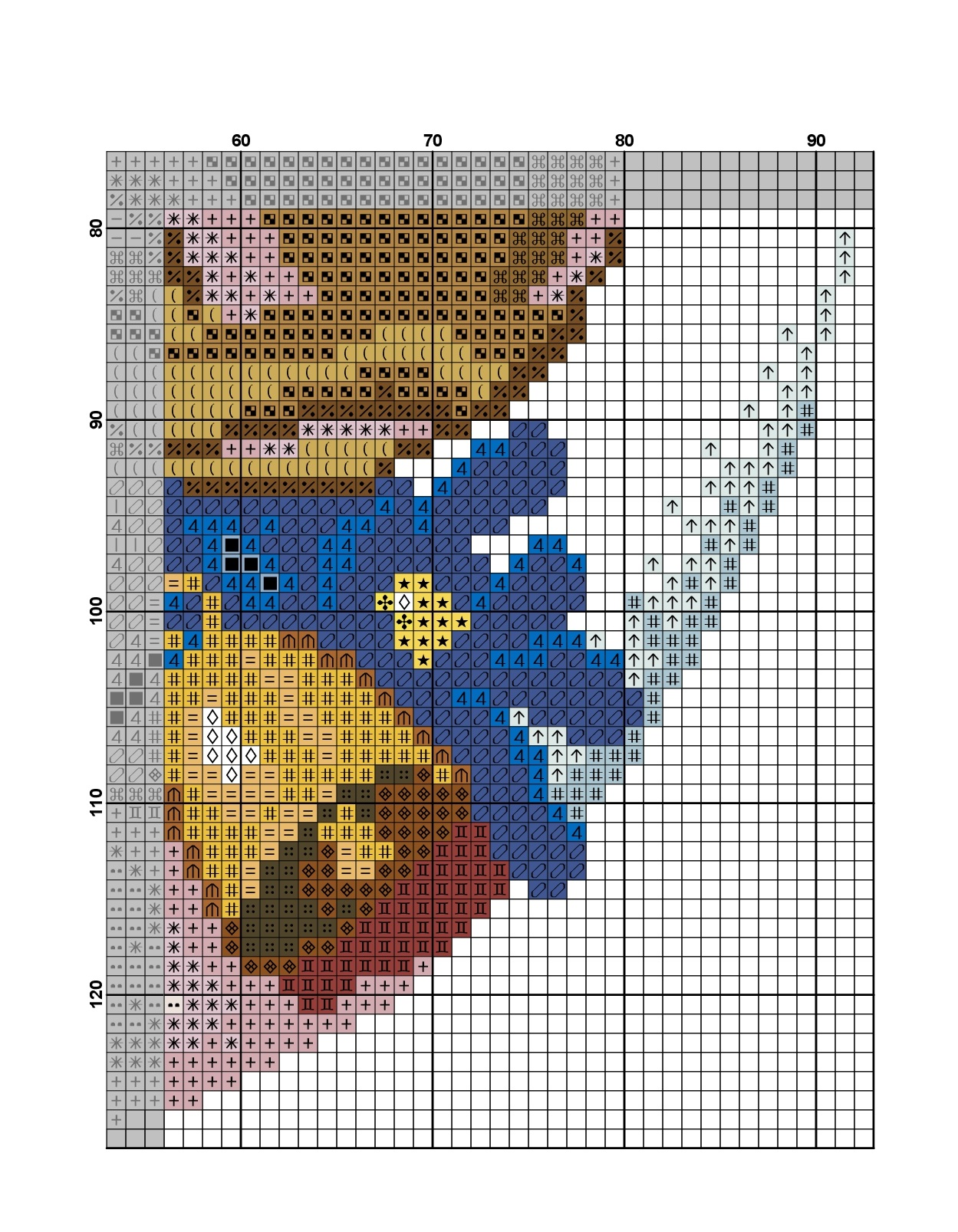 cross stitch cow pattern free (6)