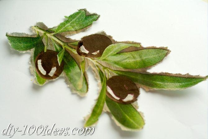 Decoupage Olive oil bottle  (9)