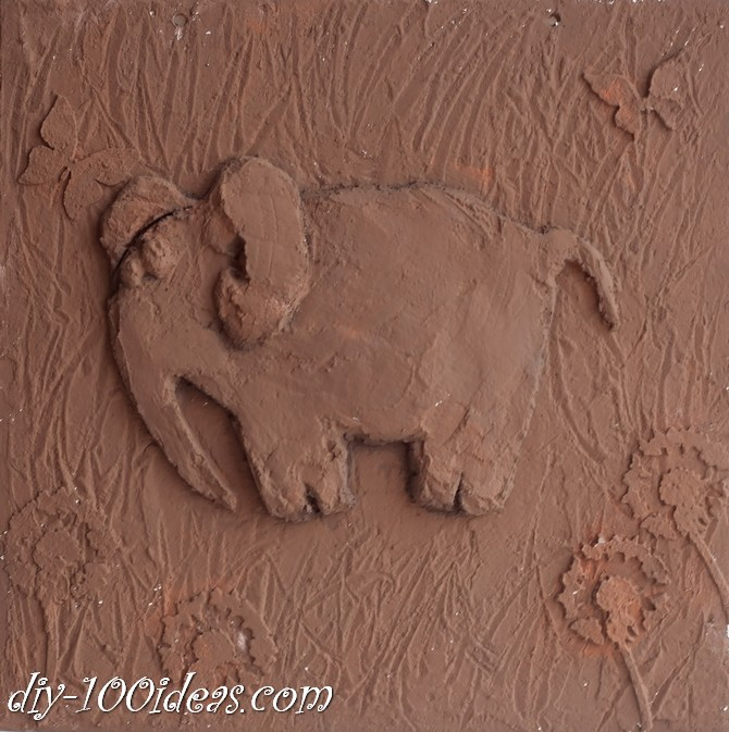 DIY  Elephant Wall Art (8)