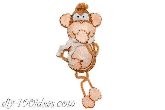 Felt monkey  (9)