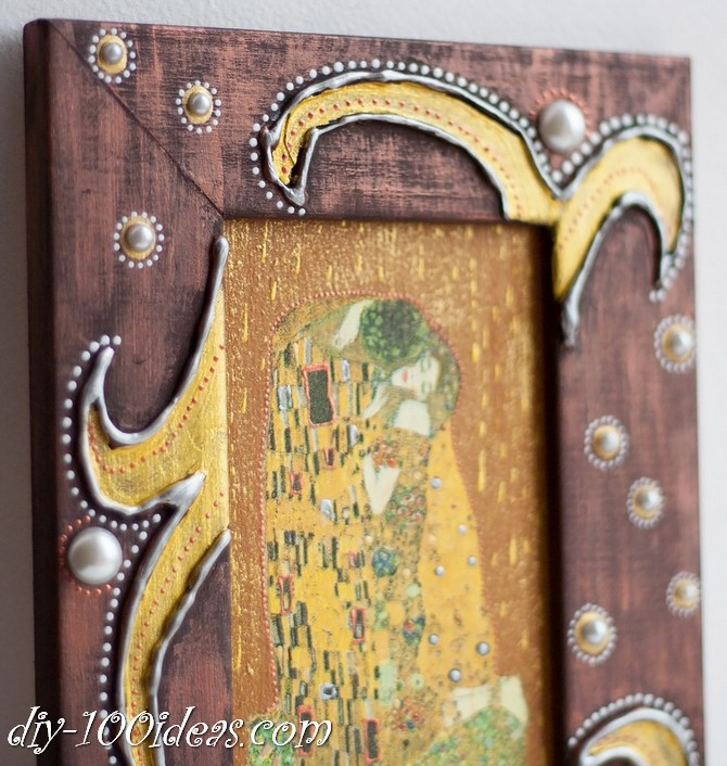 The Kiss Gustav Klimt Framed Wall Art Picture  (13)