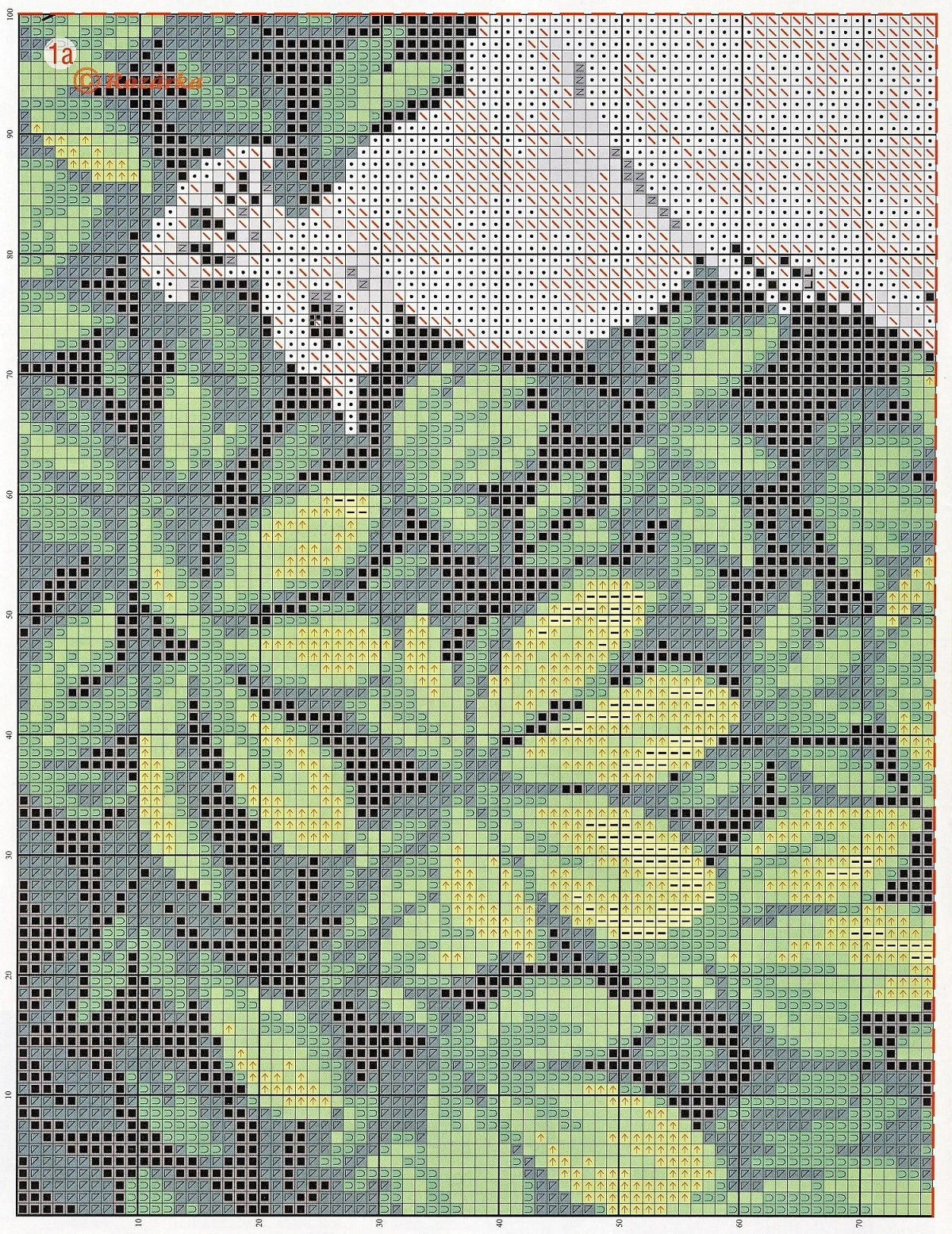 free cross stitch pattern peacock (2)