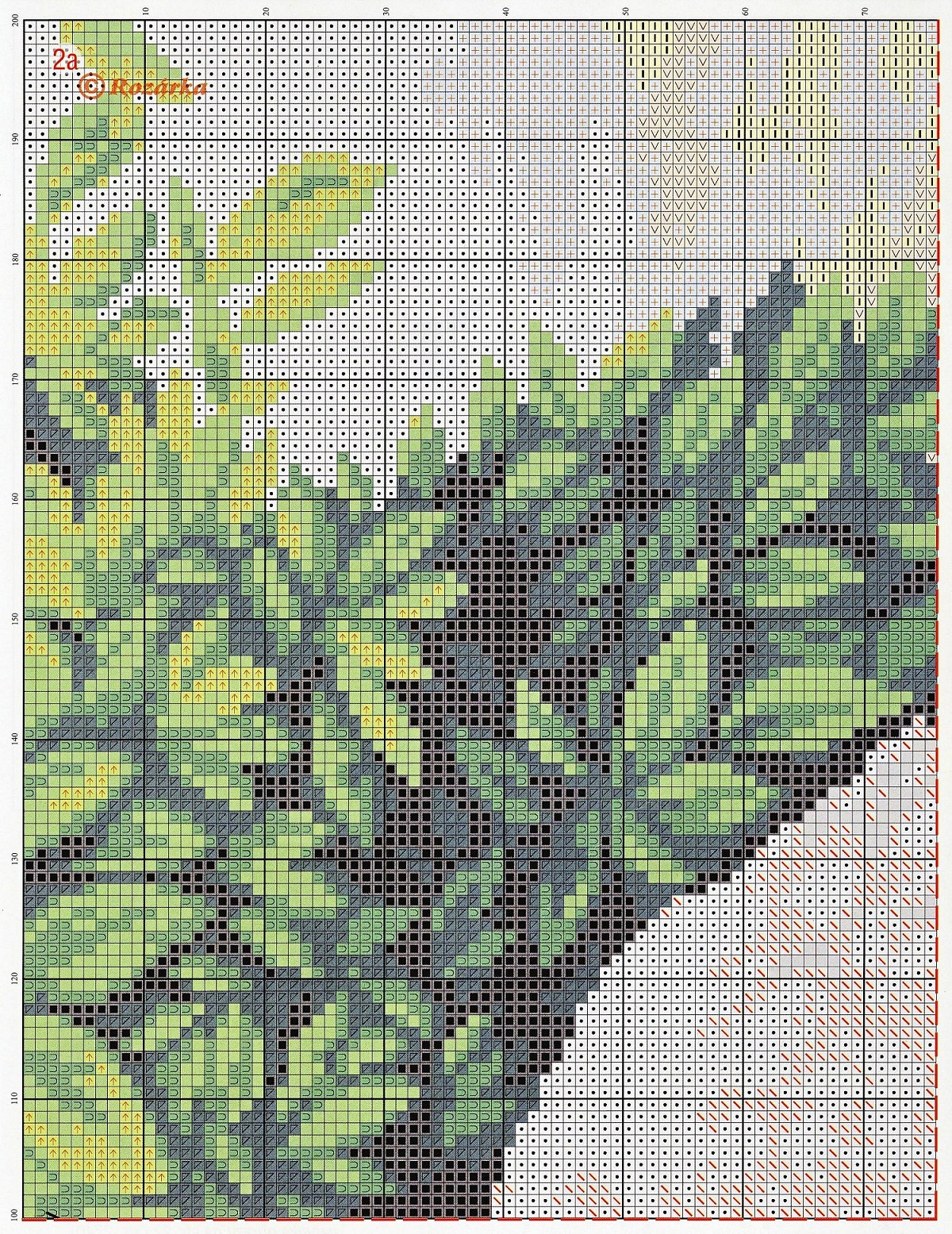 free cross stitch pattern peacock (3)
