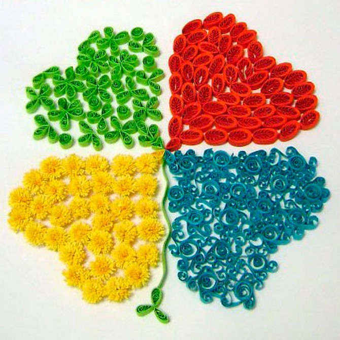 quilled leaf clover (8)