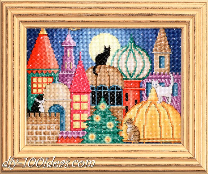 city of cats cross stitch pattern (5)